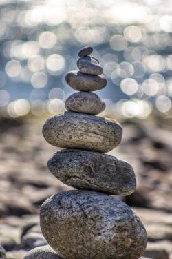 Stone rack.